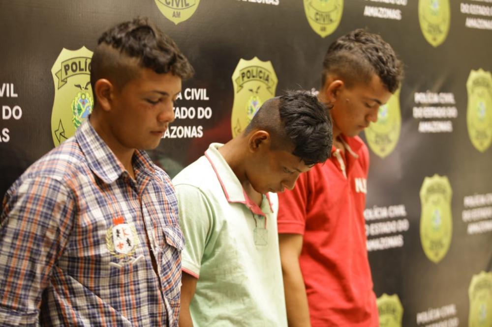 Suspeitos da chacina de Beruri, interior do Amazonas, apresentados em coletiva de Imprensa