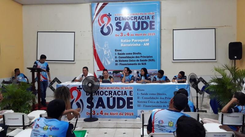 Com o tema Democracia e Saúde Barreirinha realiza sua Quinta Conferência Municipal de Saúde