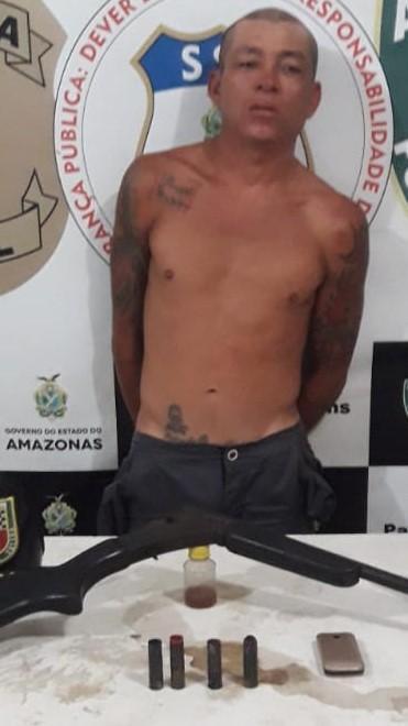 Força Tática prende homem que efetuou disparo de arma de fogo em via pública