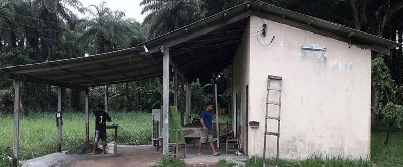 Campanha comunitária para evitar que Posto Policial de Vila Amazônia desabe