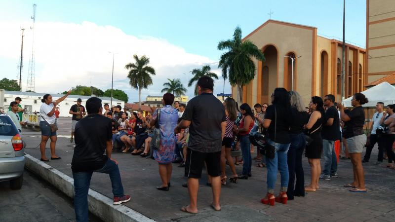 Professores da UEA, UFAM e da educação da rede estadual realizam manifestação