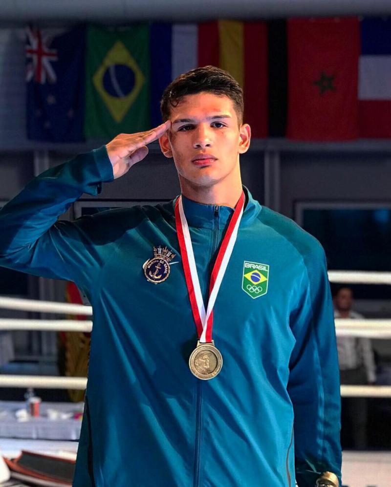 Boxeador amazonense é ouro em torneio na Polônia