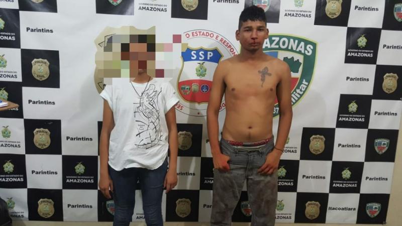 Polícia Militar prende homem e apreende adolescente por roubo ao posto de gasolina