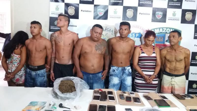"""""""Operação Arati"""" prende seis pessoas e apreende cerca 1,5 kg de drogas em Parintins"""