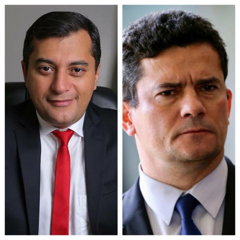 Governador Wilson Lima conversa com Sérgio Moro e presídios do AM terão reforço do Ministério da Justiça e Segurança Pública