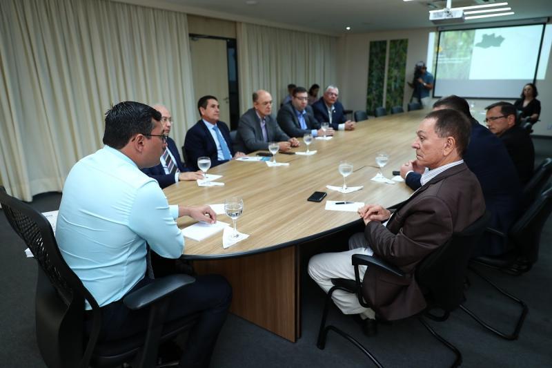 Wilson Lima e representantes da indústria e comércio definem agenda para discutir plano de desenvolvimento do Amazonas