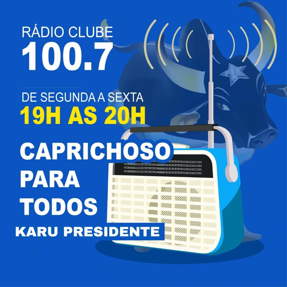 Karu estreia programa na Rádio Clube nesta segunda-feira (12)