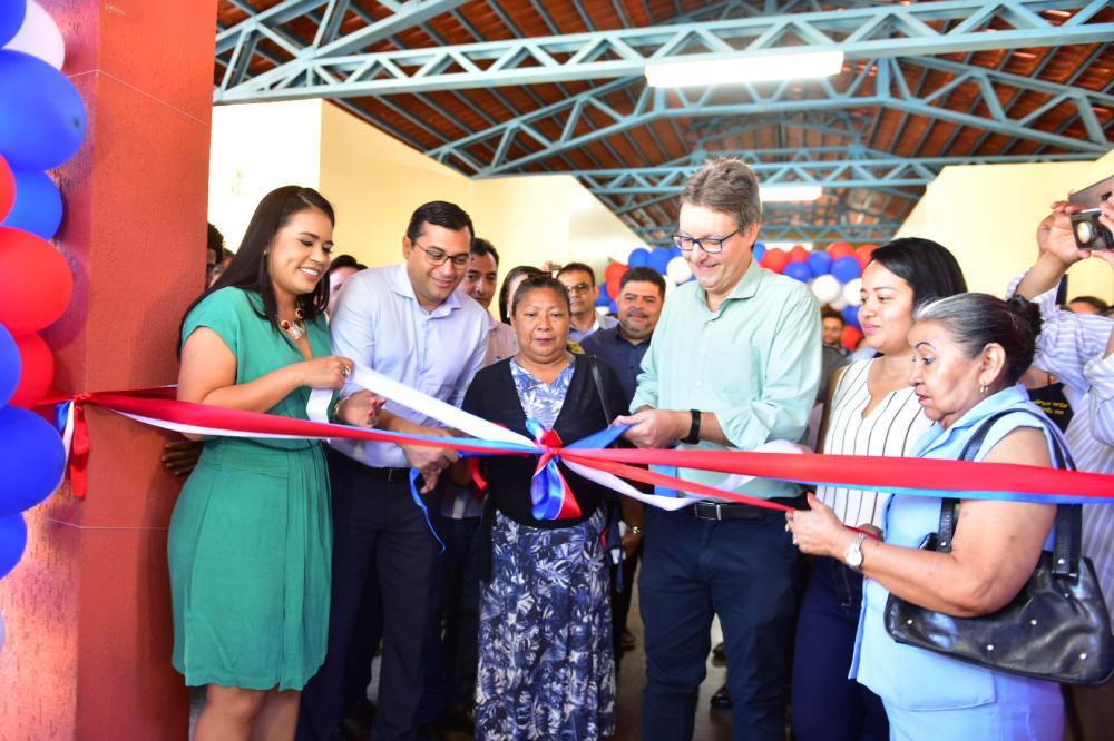 Wilson Lima inaugura escola na zona leste de Manaus, que vai iniciar atividades com cursos do Cetam