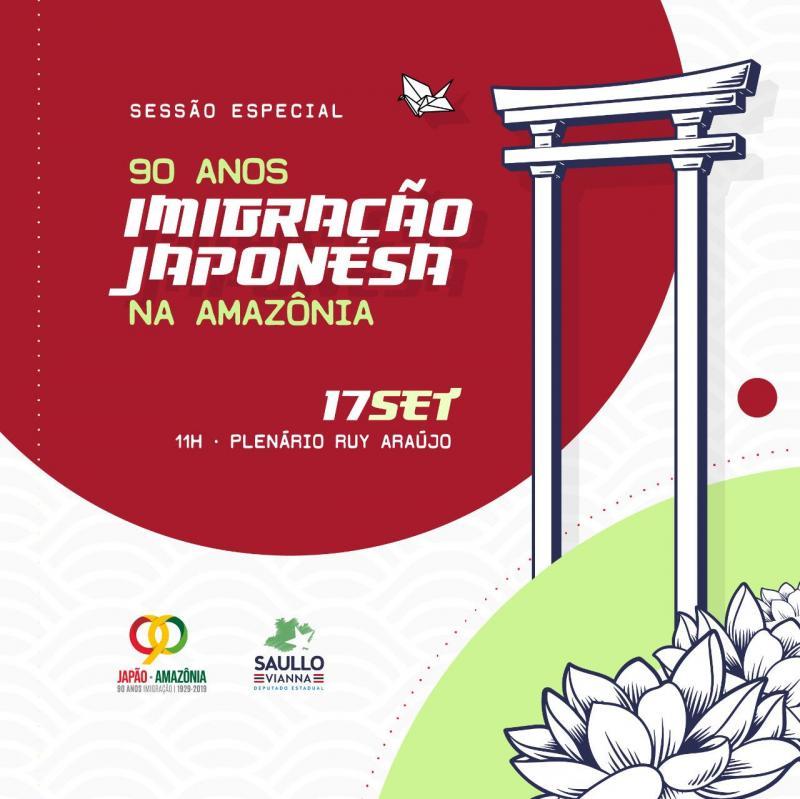 Aleam realizará Sessão Especial dos 90 anos da imigração japonesa na Amazônia Ocidental nesta terça (17)