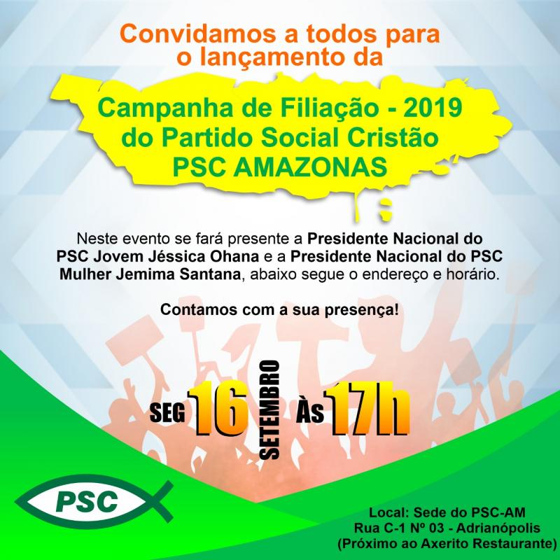 PSC-AM lança Campanha de Filiação do Partido