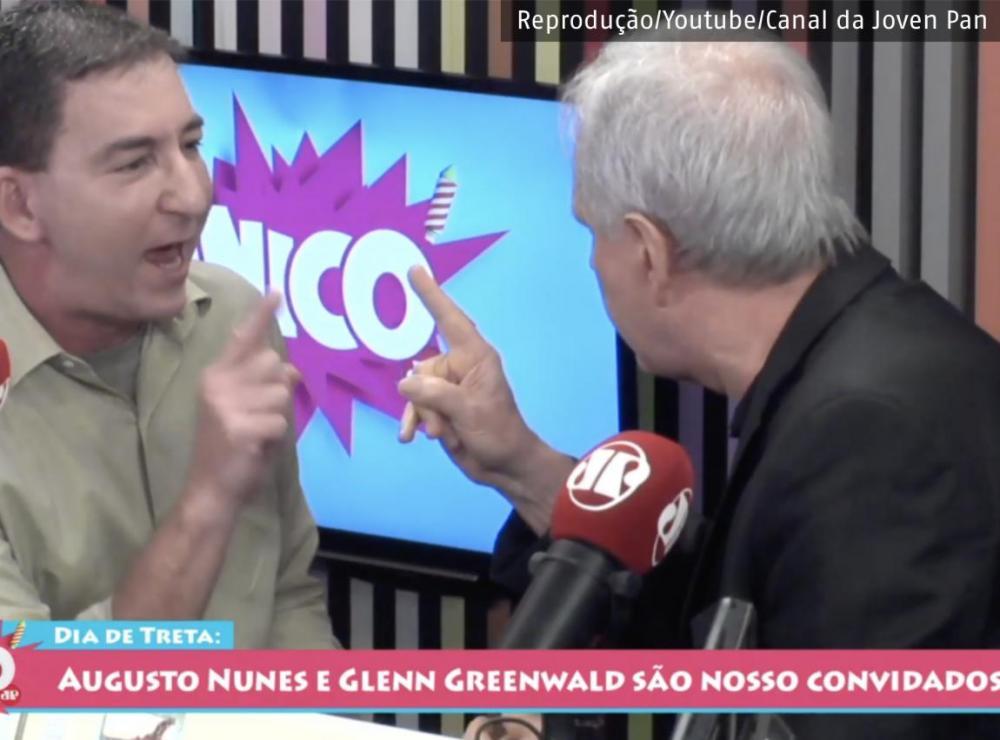 Glenn Greenwald é agredido por Augusto Nunes em programa da Jovem Pan