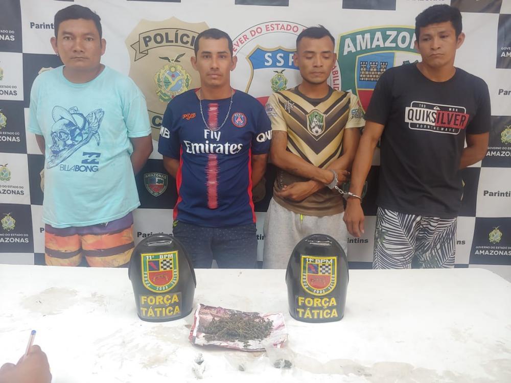 4 pessoas são presas por tráfico de drogas, em Parintins