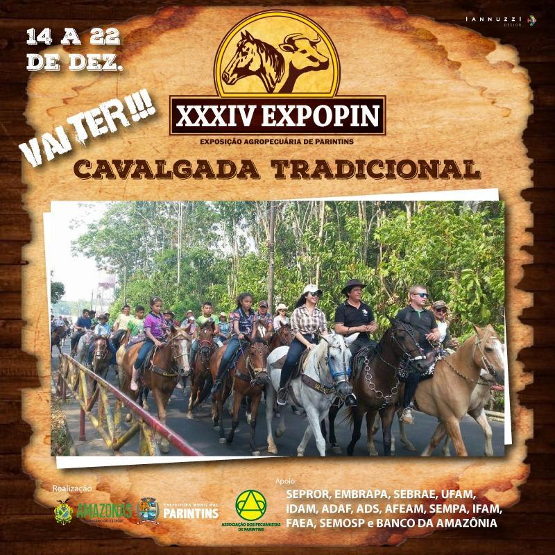 Expopin 2019 começa com cavalgada e abertura no dia 14 de dezembro