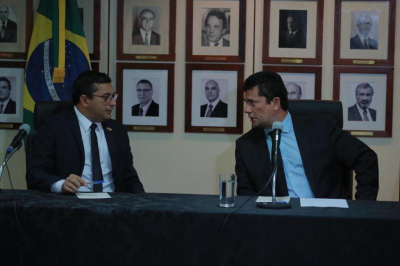 Wilson Lima reforça interlocução com ministro Sergio Moro no combate ao crime organizado no Amazonas