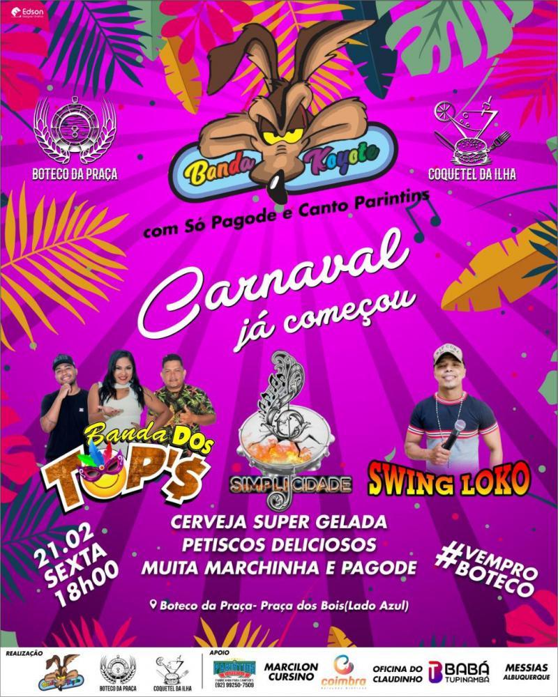Carnaval 2020: Banda do Koiote realiza festa de carnaval nesta sexta-feira (21)