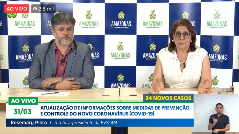 Amazonas tem terceira morte confirmada por coronavírus e chega a 175 casos confirmados
