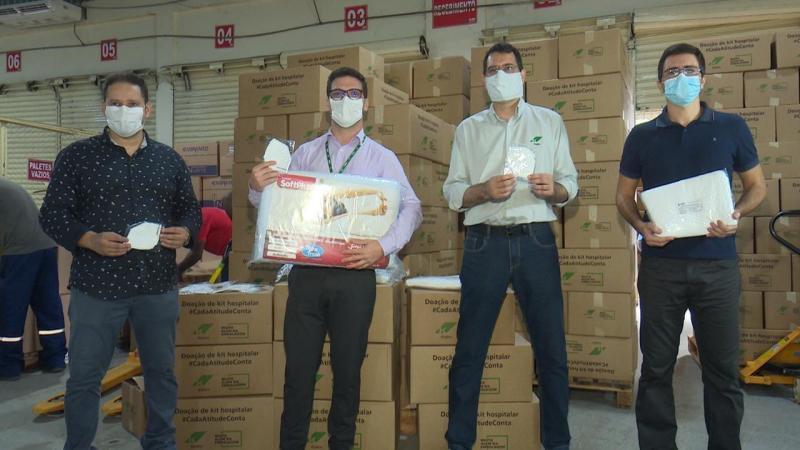 Governo do Amazonas recebe mais de 140 mil EPIs e materiais de empresas privadas