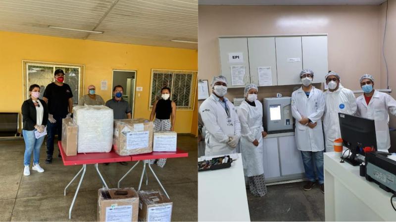 Baratão da Carne e Moto Peças João Alfredo doam aparelhos para o Hospital Jofre Cohen, em Parintins