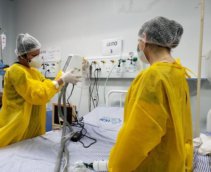 Governo do Amazonas envia novos respiradores para Hospital de Campanha de Manacapuru