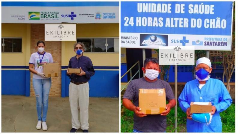 Priprioca adicionada ao álcool 70% reforça combate à covid-19 na vila de Alter do Chão