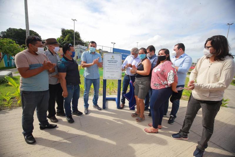 Wilson Lima inaugura obras do Prosamim no bairro Presidente Vargas, em Manaus