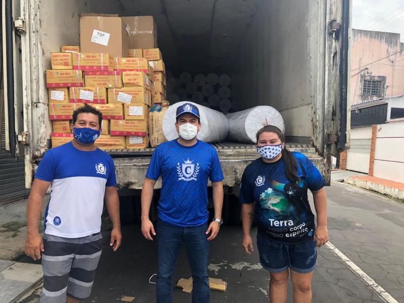 Boi Caprichoso recebe materiais para executar projeto quando for retomado o Festival de Parintins