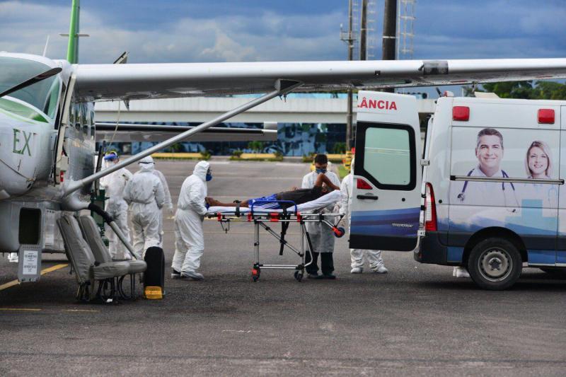 DPE-AM recomenda Susam o aumento de transferências aéreas de pacientes com Covid-19 para Manaus