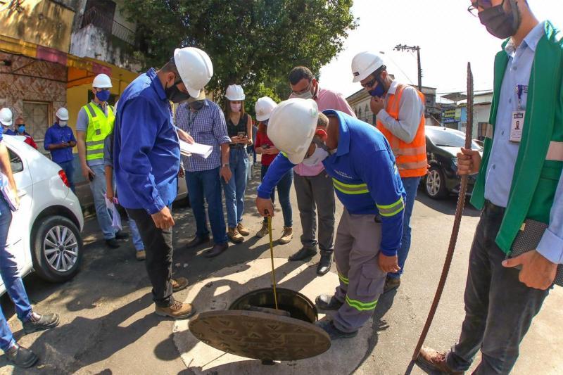 Governo inicia testes no Sistema de Esgotamento Sanitário construído pelo Prosamim III