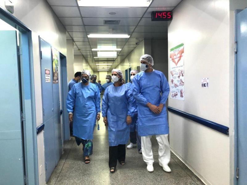 Secretária da Susam visita Hospital Platão Araújo como parte do plano de retomada de atividades das unidades
