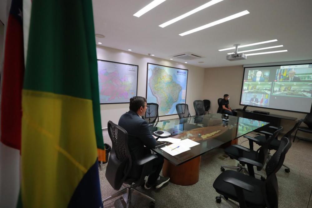 Em posse de superintendente da Suframa, Wilson Lima defende modelo Zona Franca e reforça trabalho conjunto