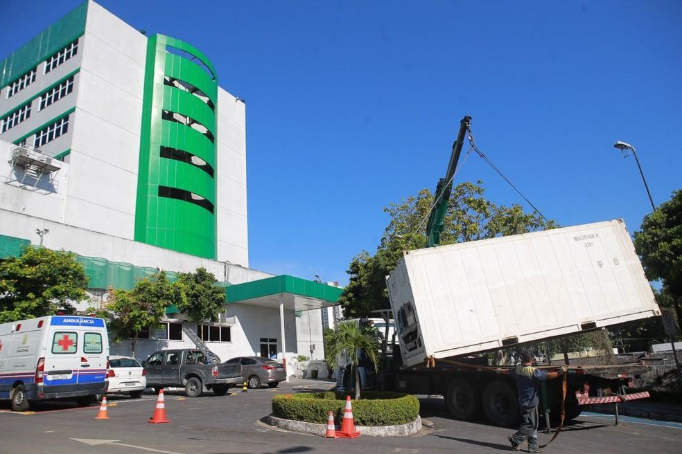Hospitais de Manaus retiram câmaras frigoríficas e tendas de triagem instaladas durante pandemia