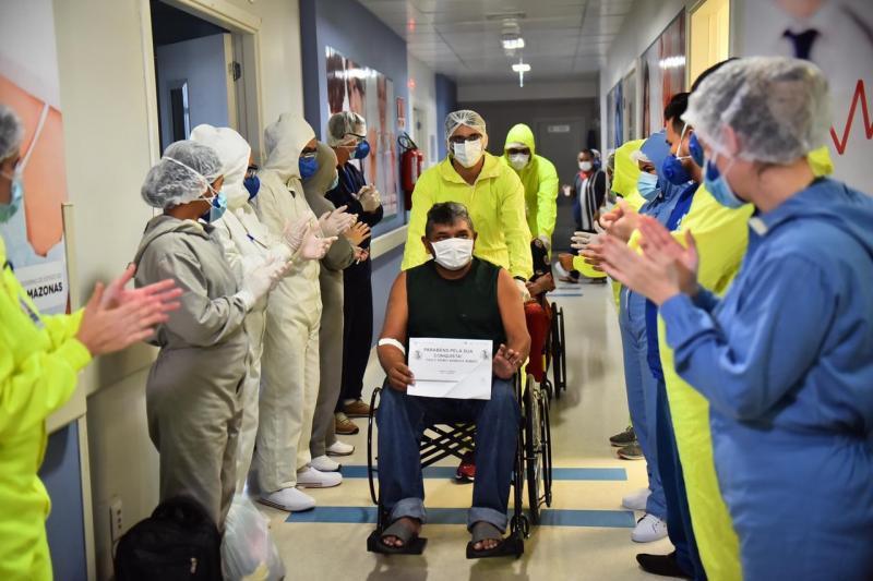 Covid-19: Hospital Delphina Aziz atinge a marca de 829 altas médicas em Manaus