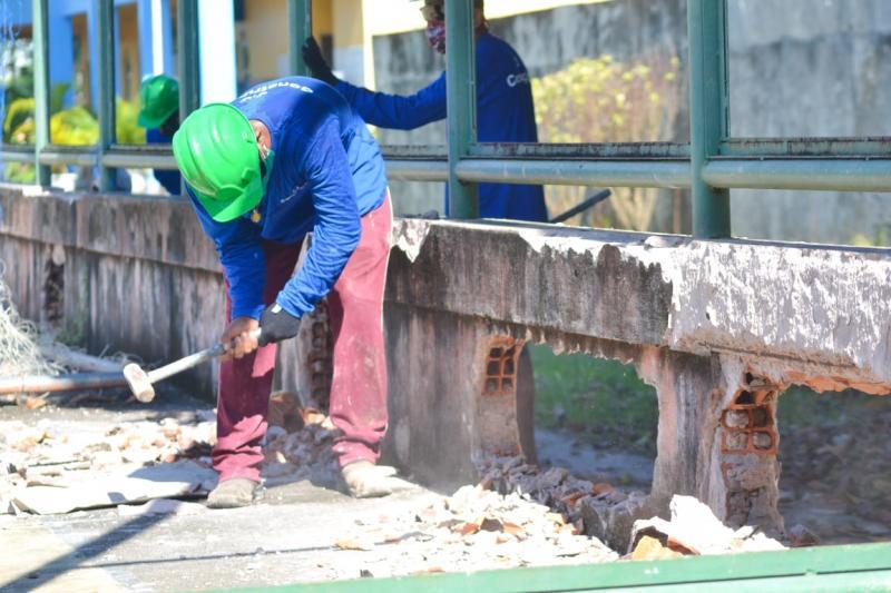 Prefeitura de Parintins inicia construção de ginásio na escola Irmã Cristine
