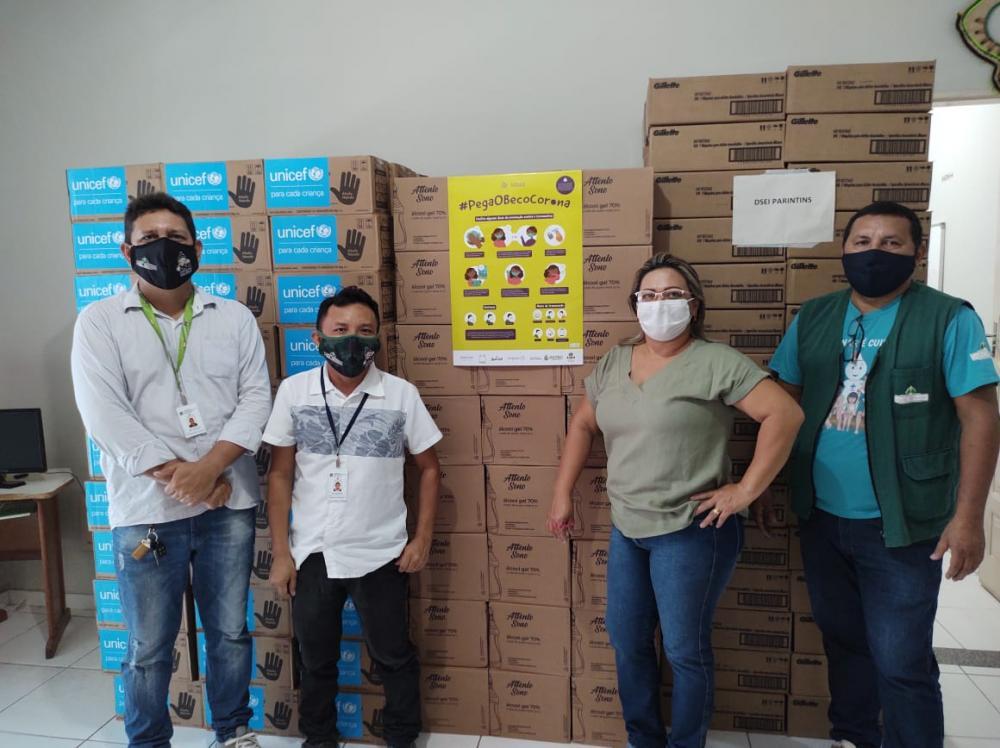 Dsei/Parintins recebe grande remessa de doações da Unicef e empresas do Polo Industrial de Manaus