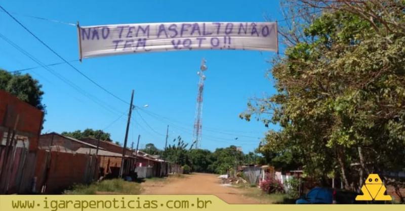 Em Terra Santa (PA), moradores protestam cobrando asfalto nas ruas no município