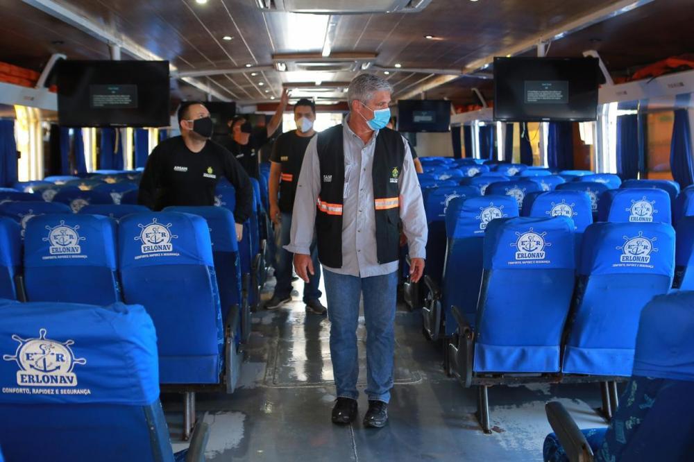 Transporte fluvial de passageiros retorna nesta quinta-feira, 16, com capacidade reduzida