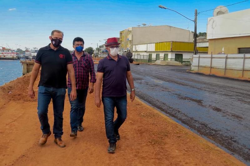 Prefeitura de Juruti (PA) inicia primeira fase de pavimentação do novo muro de arrimo