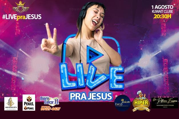 Fé e Solidariedade: Grupo de jovens realiza 'Live pra Jesus' neste sábado (1º)