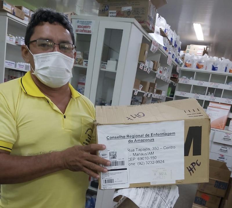 Coren-AM doa mais de mil máscaras para Dsei e hospitais de Parintins
