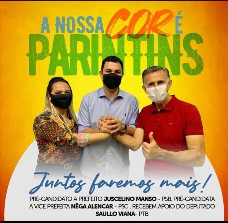 Saullo Vianna declara apoio a chapa Juscelino e Nêga em Parintins