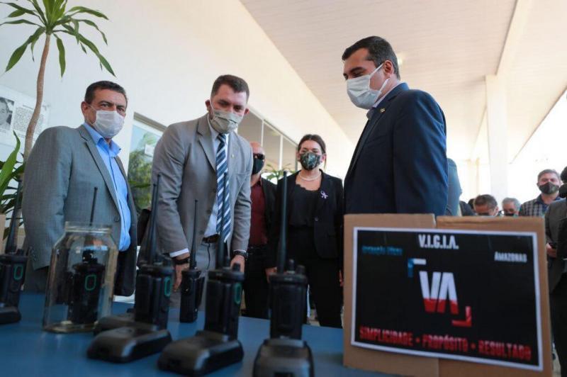 Parintins recebe equipamentos de novo sistema de radiocomunicação da PM