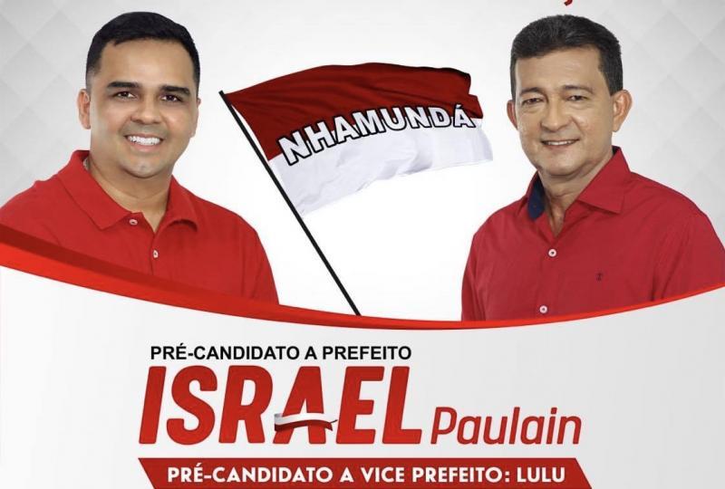 Israel Paulain anuncia professor Lulu como seu pré-candidato à vice-prefeito em Nhamundá