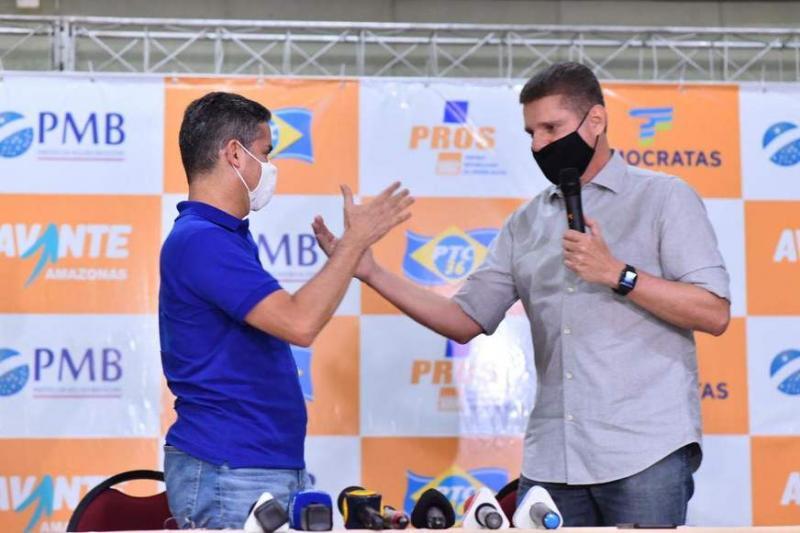 David Almeida anuncia Marcos Rotta como candidato a vice em Manaus