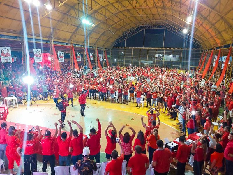 Israel Paulain mostra força política em Nhamundá na sua convenção municipal
