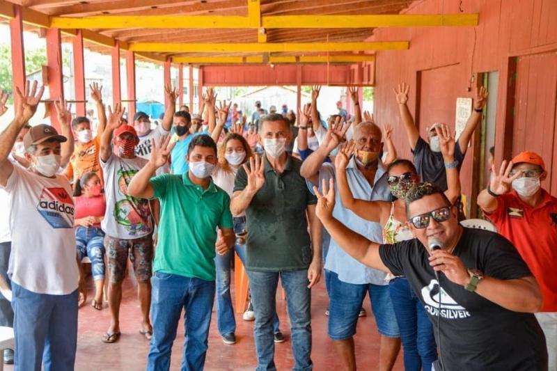 Juscelino Manso participa de reuniões com o povo da Gleba de Vila Amazônia