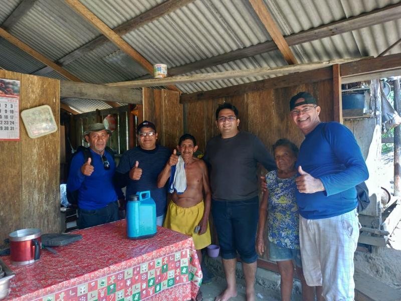 Netão Cardoso visita região do Rio Uaicurapá para conhecer trabalho de produtores rurais