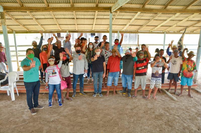Juscelino Manso visita comunidades rurais e recebe apoio da população