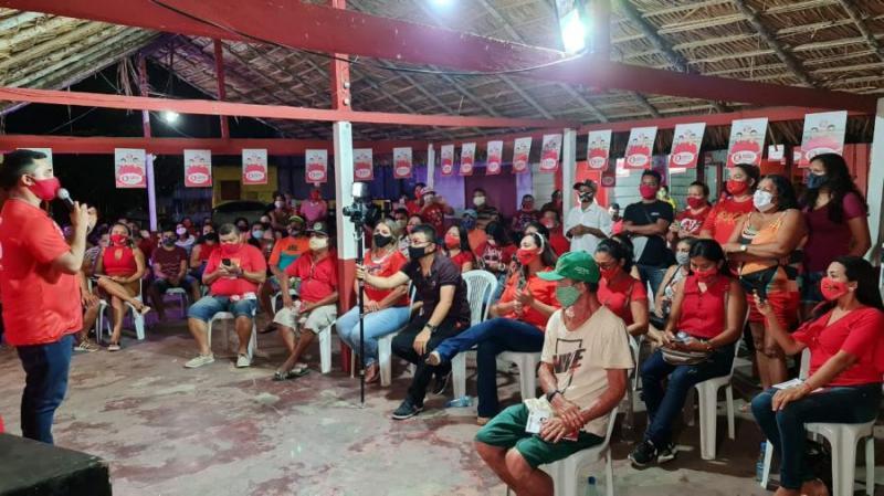 Em Parintins, eleitores de Nhamundá declaram apoio a Israel Paulain