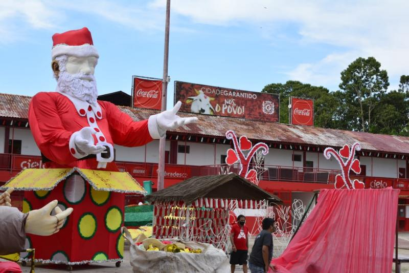 Garantido inaugura complexo natalino neste sábado (10) para arrecadar brinquedos e alimentos
