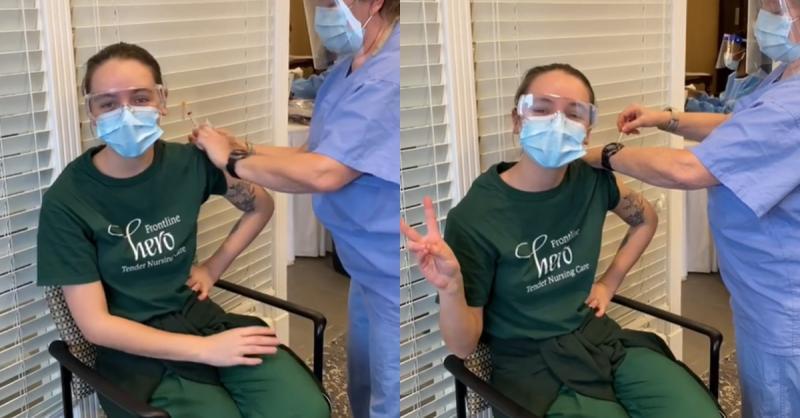 amazonense recebe 1ª dose da vacina contra Covid-19 no Canadá